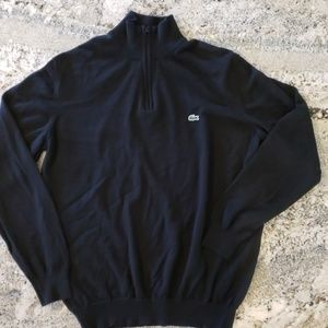 Lacoste Men's 1/4 Zip Sweater Pure New Wool 6 L